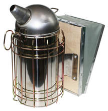 Smoker Stainless Steel 10 cm with Protection Frame