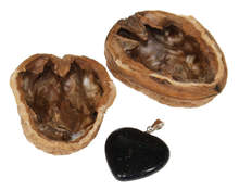Walnut Surprise Stocking Filler with Heart Pendant