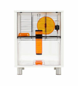 White Qute Gerbil and Hamster Cage