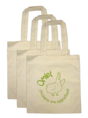 Bag Shopping Chickens Pack of 3