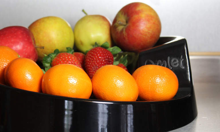 Rollabowl Fruit Bowl offers a stylish solution to fruit storage