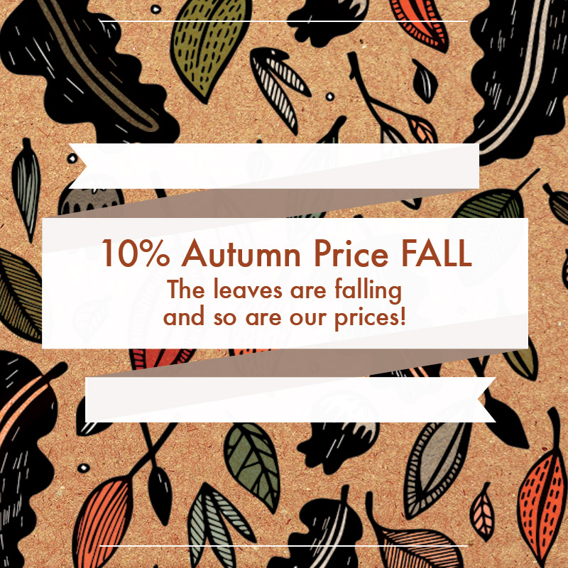 Autumn Price Fall 10% Off Promo Homepage Image Mobile UK US IE