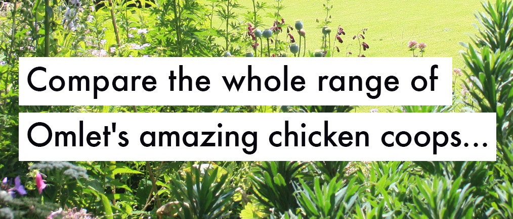 Compare the whole range of Omlet's amazing chicken coops